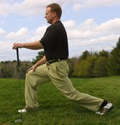 hip flexor golf lunge