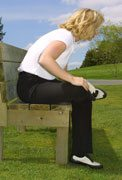 seated forward bend golf stretch
